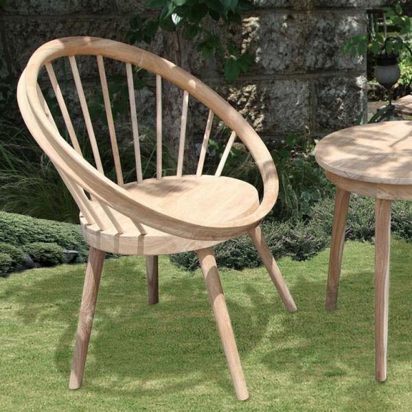 パイロットチェア 木製 チーク ガーデンチェアー 1人掛け いす 椅子 ひとりがけ チェア テラス カフェ おしゃれ モダン レトロ 高級感