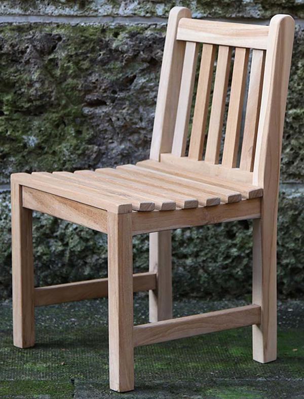 スコラチェア 木製 チーク ガーデンチェアー 1人掛け いす 椅子 ひとりがけ チェア テラス カフェ おしゃれ モダン レトロ 高級感