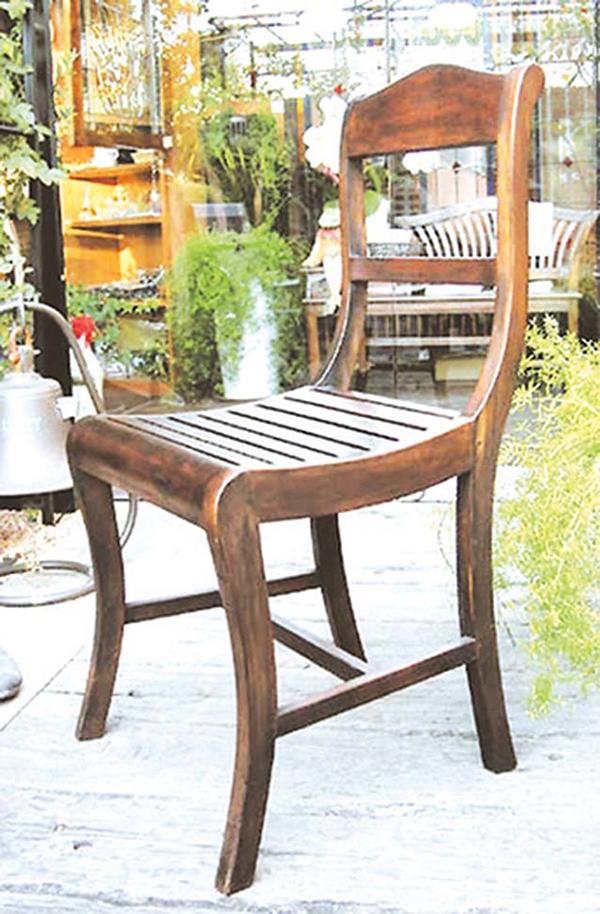 ヨーロピアンチェア 木製 チーク ガーデンチェアー 1人掛け いす 椅子 ひとりがけ チェア テラス カフェ おしゃれ モダン レトロ 高級感