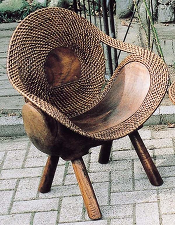 ラタンウッドチェア リビングチェアー 木製 パーソナルチェア 1人掛け いす 椅子 ひとりがけ チェア アンティーク おしゃれ モダン レトロ 高級感