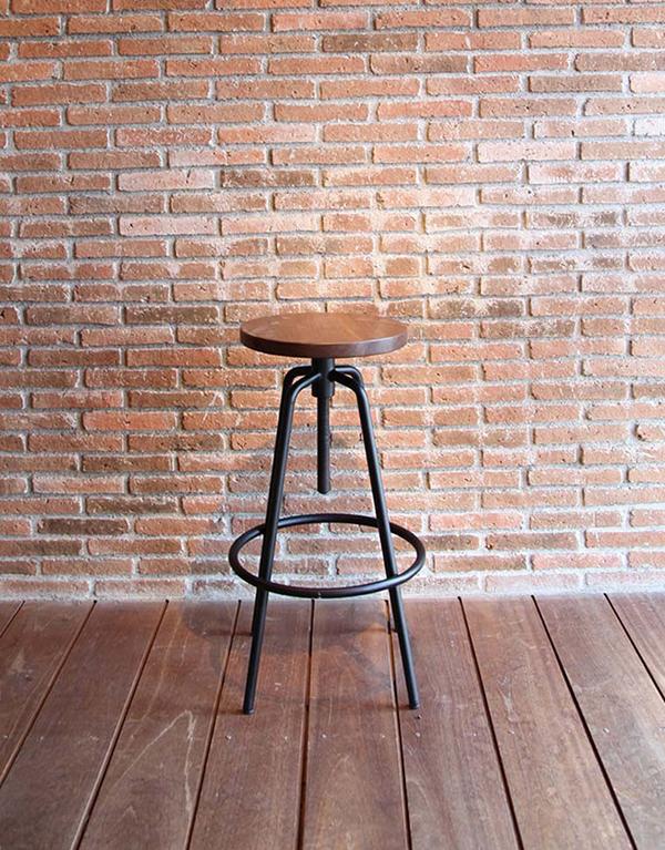 伸縮丸ハイチェア アイアン カウンターチェア バーチェア 木製 ダイニングチェアー カフェ 食卓椅子 いす イス リビング キッチン おしゃれ モダン レトロ アンティーク