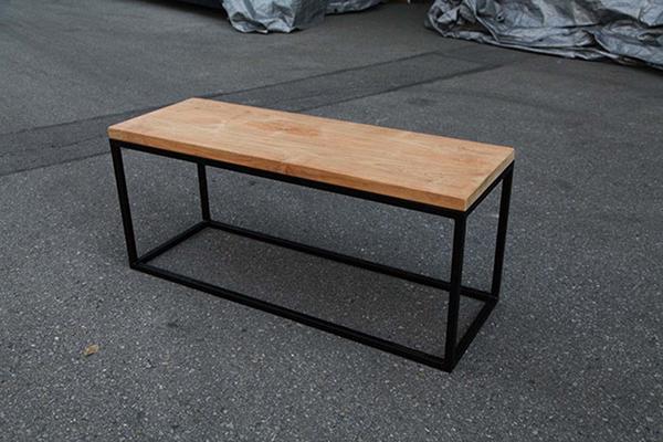 アイアンウッドキューブベンチ 木製 ガーデンチェアー ガーデンベンチ 長椅子 イス チェア チェアー 椅子 おしゃれ アンティーク モダン レトロ