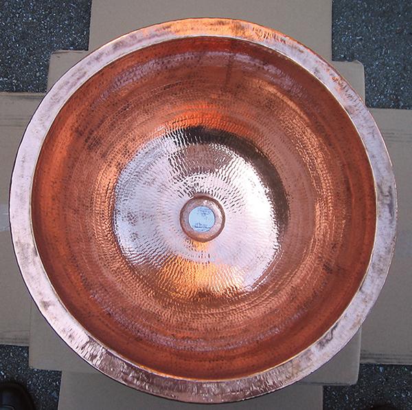 銅製洗面ボウル 丸型 おしゃれ 洗面シンク 洗面ボウル 手洗い鉢 アンティーク モダン レトロ