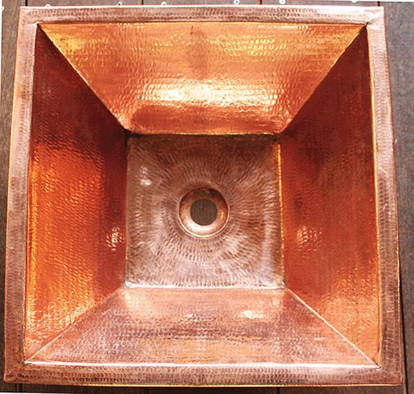 銅製洗面ボウル 角型 おしゃれ 洗面シンク 洗面ボウル 手洗い鉢 アンティーク モダン レトロ