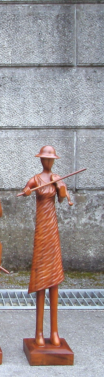 ミュージック人形 S バイオリン ガーデンアクセサリー オーナメント オブジェ インテリア 雑貨 アンティーク おしゃれ