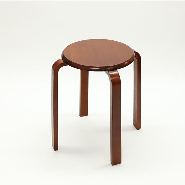 送料無料 木製丸椅子 6脚セット 丸いす 曲げ木いす 天然木 丸イス スツール 腰掛け椅子 玄関 リビング キッチン おしゃれ ナチュラル ブラウン 北欧 モダン