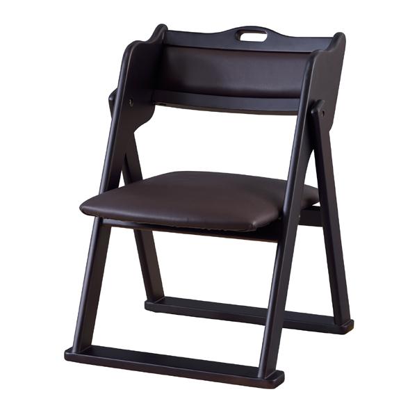 折りたたみチェア フォールディングチェア 折りたたみチェアー 折り畳み 背もたれ付 合皮 レザー おしゃれ 木製 いす イス 椅子 ブラック