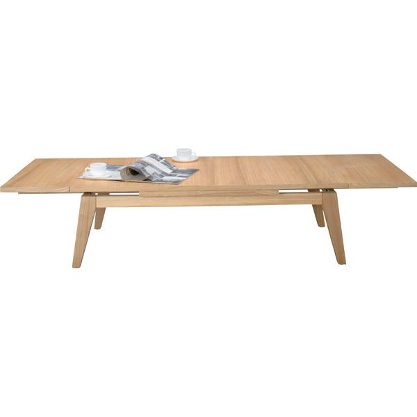 伸長式テーブル 幅120-180cm 座卓 伸縮テーブル エクステンションテーブル センターテーブル ローテーブル リビングテーブル コーヒーテーブル カフェテーブル 机 つくえ 作業台 木製 木目 モダン 北欧 西海岸 おしゃれ かわいい ナチュラル