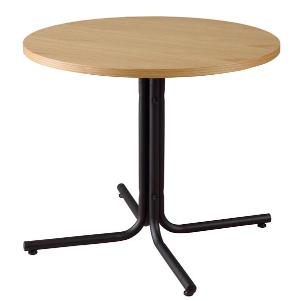 ラウンド カフェテーブル 幅80cm スチール脚 木製テーブル 円型 丸型 リビングテーブル コーヒーテーブル ダイニングテーブル ダイニング テーブル おしゃれ 北欧 モダン レトロ カフェ風 一人暮らし ナチュラル