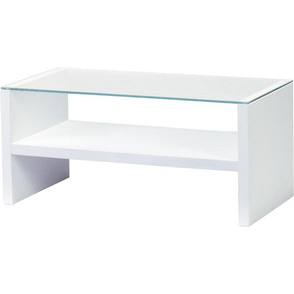 センターテーブル 幅90cm ガラステーブル 収納 棚付きローテーブル リビングテーブル コーヒーテーブル カフェテーブル 机 つくえ 作業台 モダン 北欧 西海岸 おしゃれ かわいい ホワイト