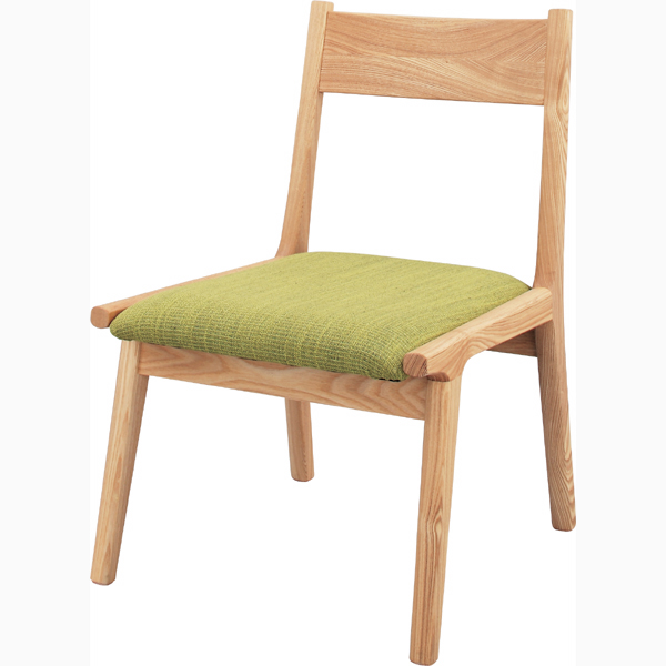 ダイニングチェア 天然木 木製 食卓チェアー 食卓椅子 いす イス 椅子 ファブリック ダイニングチェアー レトロ モダン 北欧 ブルックリン 西海岸 男前 インテリア おしゃれ アンティーク カントリー かわいい 高級感 グリーン