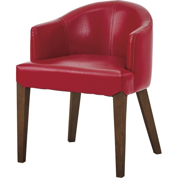 ダイニングチェア ローバック レザー 天然木 木製 食卓チェアー 食卓椅子 いす イス 椅子 ダイニングチェアー レトロ モダン 北欧 ブルックリン 西海岸 男前 インテリア おしゃれ アンティーク カントリー かわいい 高級感 レッド