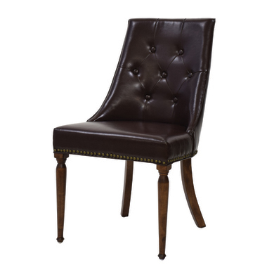 ダイニングチェア レザー 天然木 木製 食卓チェアー 食卓椅子 いす イス 椅子 ダイニングチェアー レトロ モダン 北欧 ブルックリン 西海岸 男前 インテリア おしゃれ アンティーク カントリー かわいい 高級感 ブラウン