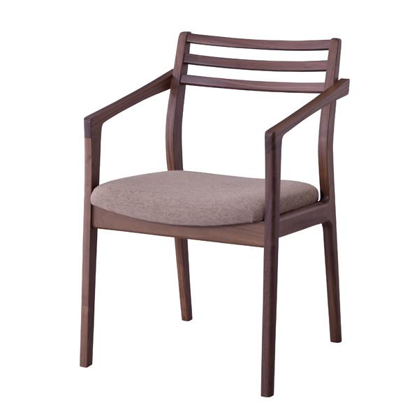 日本製 ダイニングチェア 食卓チェアー 肘付き 肘掛け付き 食卓椅子 いす イス 椅子 ダイニングチェアー ファブリック レトロ モダン 北欧 ブルックリン 西海岸 男前 インテリア おしゃれ アンティーク カントリー かわいい 高級感 ウォルナット