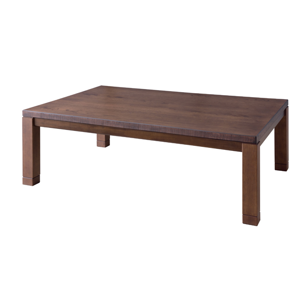 送料無料 こたつ テーブル 120×75cm 長方形 ブラウン 北欧 2段階高さ調整 継脚 継ぎ脚 コタツ こたつテーブル 炬燵 ローテーブル センターテーブル リビングテール カフェ 木製 天然木 コンパクト おしゃれ かわいい デザイン