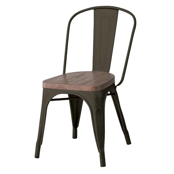 ダイニングチェア スタッキングチェア 食卓チェアー スチール 天然木 木製 食卓椅子 いす イス 椅子 ダイニングチェアー レトロ モダン 北欧 ブルックリン 西海岸 男前 インテリア おしゃれ シンプル アンティーク カントリー かわいい 高級感 ブラック