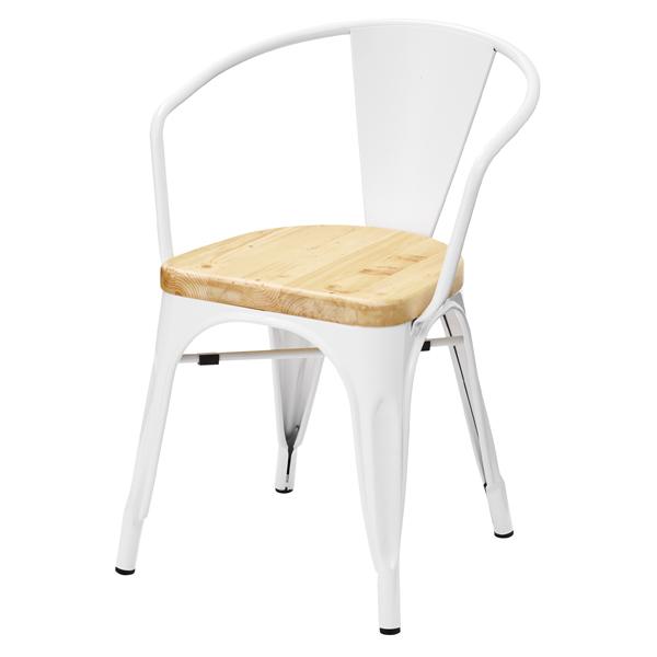 ダイニングチェア 食卓チェアー スタッキングチェア スチール 天然木 木製 食卓椅子 いす イス 椅子 ダイニングチェアー レトロ モダン 北欧 ブルックリン 西海岸 男前 インテリア おしゃれ シンプル アンティーク カントリー かわいい 高級感 ホワイト