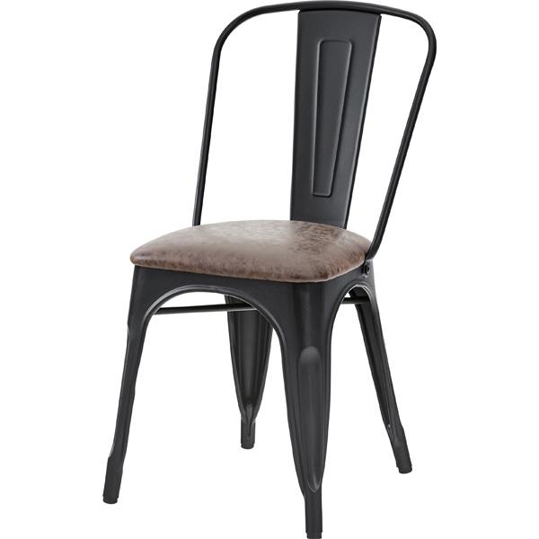 ダイニングチェア 食卓チェアー スチール レザー 食卓椅子 いす イス 椅子 ダイニングチェアー レトロ モダン 北欧 ブルックリン 西海岸 男前 インテリア おしゃれ シンプル アンティーク カントリー かわいい 高級感 ブラウン