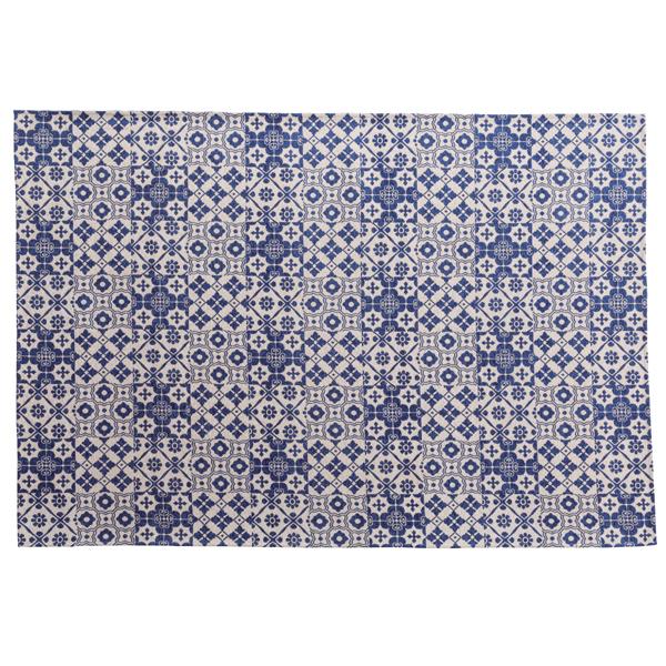 ラグマット 130x190cm ラグ マット カーペット じゅうたん 絨毯 センターラグ リビングラグ フロアマット 柄 滑り止め加工 すべり止め付き シンプル おしゃれ 北欧 高級感 ブルー