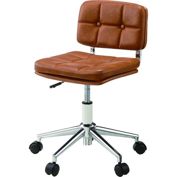 オフィスチェア キャスター付き ローバック 合皮 レザー 事務椅子 パソコンチェア デスクチェア デスク チェアー 学習椅子 学習チェア キッズチェア おしゃれ ブラウン