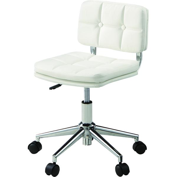 オフィスチェア キャスター付き ローバック 合皮 レザー 事務椅子 パソコンチェア デスクチェア デスク チェアー 学習椅子 学習チェア キッズチェア おしゃれ ホワイト