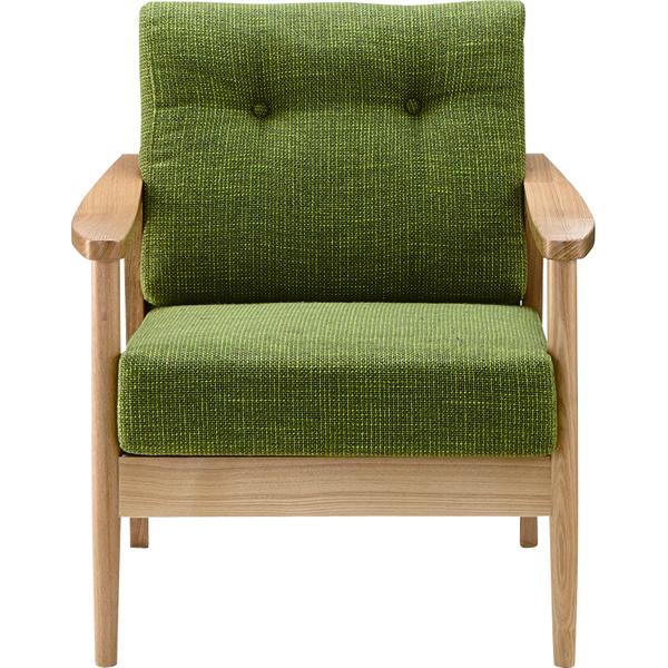 ソファー ソファ 1人掛け 一人掛け 1人用 イス 椅子 チェアー チェア 肘付き 木製 天然木 北欧 モダン レトロ カフェ風 西海岸 ブルックリン おしゃれ かわいい リビング 一人暮らし グリーン