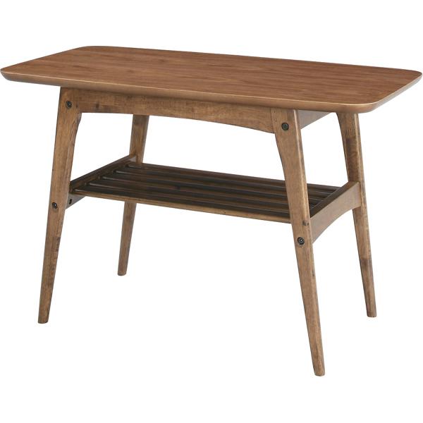 コーヒーテーブル カフェテーブル 幅75cm 木製 天然木 木目 棚付き収納 ローテーブル センターテーブル リビングテーブル 座卓 おしゃれ カントリー フレンチ 北欧 モダン レトロ 一人暮らし ウォルナット