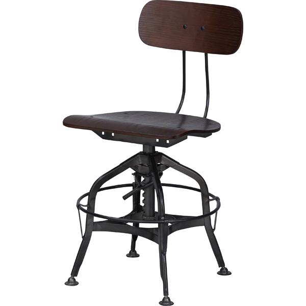 ダイニングチェアー カフェチェア スチール 昇降式 高さ調節 食卓チェアー 食卓椅子 いす イス 椅子 ダイニングチェア レトロ モダン 北欧 ブルックリン 西海岸 男前 インテリア おしゃれ シンプル アンティーク 姫系 カントリー かわいい 高級感 ブラウン