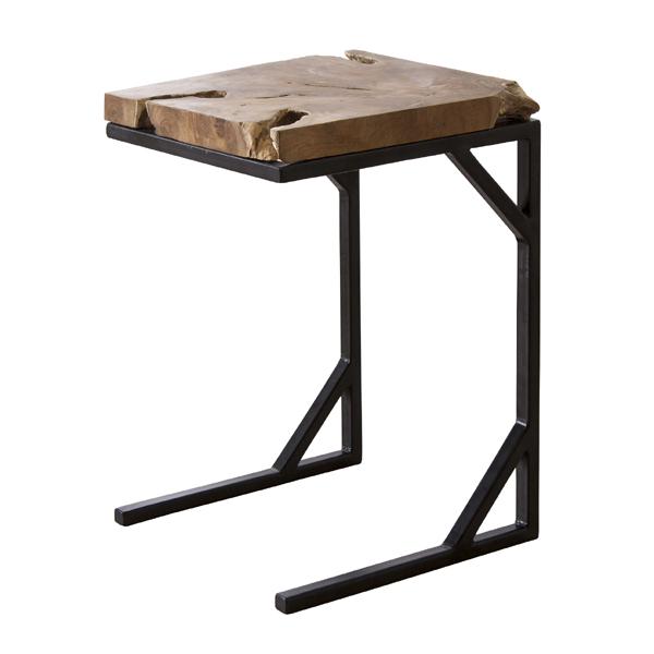 サイドテーブル 幅40cm 木製 スチール スリム コンパクト ナイトテーブル ベッドサイドテーブル ソファーサイドテーブル レトロ モダン 北欧 ブルックリン 西海岸 男前 インテリア おしゃれ アンティーク