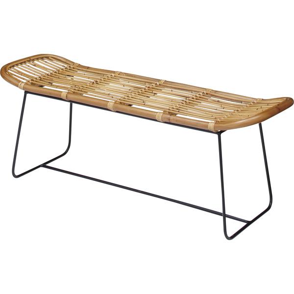 完成品 ダイニングベンチ 幅121cm 2人掛け 食卓椅子 チェアー チェア ダイニングチェアー イス 椅子 ラタン アイアン 二人掛け 2人掛け ベンチチェア 北欧 おしゃれ アンティーク 西海岸ブルックリン