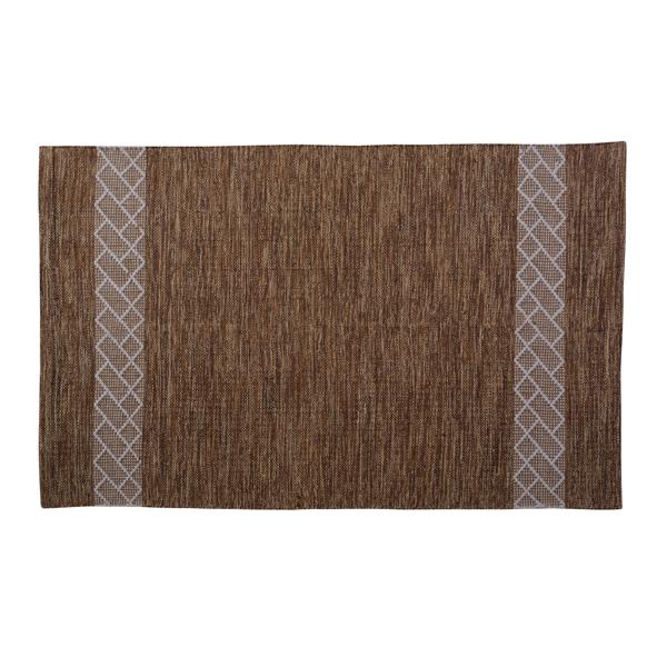 ラグ マット フロアマット 190x130cm 柄 コットン 綿 ラグマット デザイン ラグカーペット じゅうたん 絨毯 リビングラグ センターラグ シンプル おしゃれ 高級感 北欧 ブラウン
