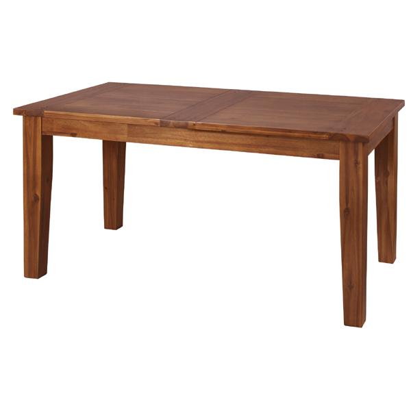 ダイニングテーブル 単品 幅150cm 4人用 4人掛け 天然木 アカシア 木製 木目 北欧 シンプル ダイニング テーブル おしゃれ 机 つくえ 食卓机 作業台 食卓テーブル リビングテーブル 西海岸 モダン ナチュラル