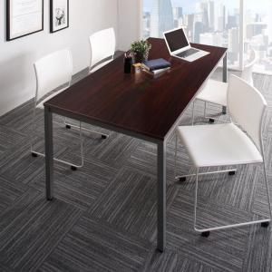 会議用テーブル [5点セット(テーブルW180+チェア4脚) ミーティングテーブル&スタッキングチェアシリーズ Sylvio シルビオ]