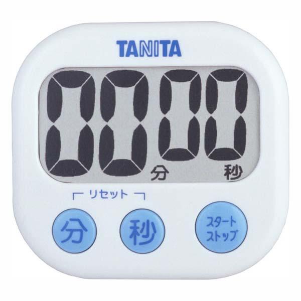 送料無料 デジタルタイマー 毎日続々入荷 高額売筋 でか見えタイマー ホワイト TD-384