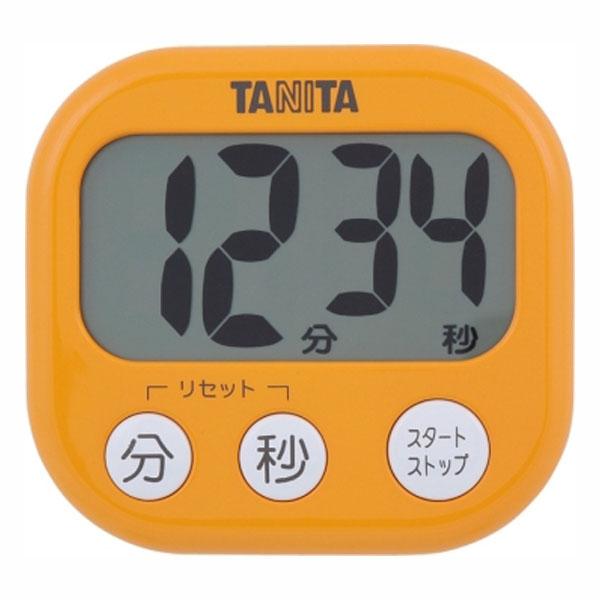 送料無料 ◆高品質 低価格化 デジタルタイマー でか見えタイマー アプリコットオレンジ TD-384