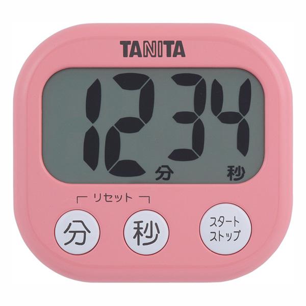 送料無料 定番キャンバス 高額売筋 デジタルタイマー でか見えタイマー TD-384 フランボワーズピンク