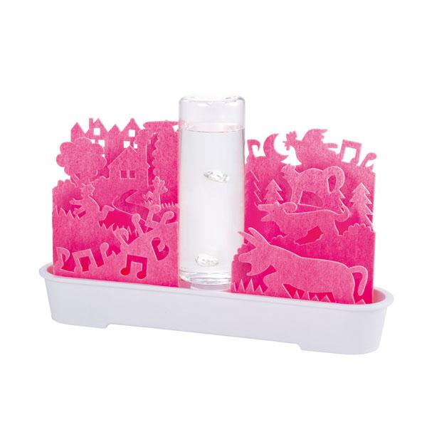 送料無料 自然気化式ECO加湿器 不思議な世界 ピンク