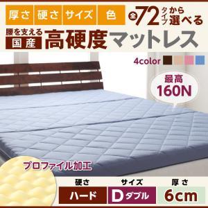 送料無料 国産 硬質プロファイルウレタンマットレス ハードタイプ 厚さ6cm ダブル 日本製 折りたたみマットレス 折りたたみ式 040202354