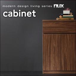 送料無料 シンプルモダンリビングシリーズ nux ヌクス キャビネット リビング収納 サイドボード 040500034