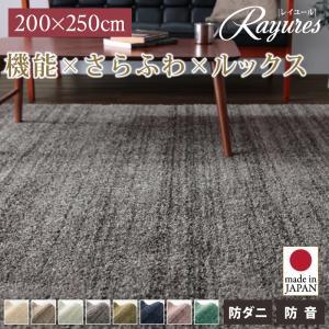 送料無料 さらふわ国産ミックスシャギーラグ rayures レイユール 200×250cm 絨毯 マット カーペット 040702167