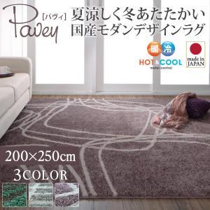 送料無料 夏涼しく冬あたたかい 国産モダンデザインラグ pavey パヴィ 200×250cm 絨毯 マット カーペット 040702173