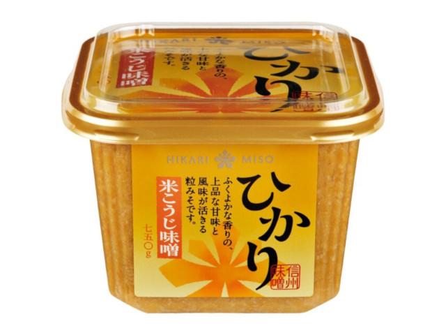 ひかり味噌 米こうじ味噌 カップ 750g x8 *
