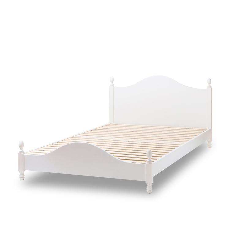 姫系 すのこベッド セミダブル 国産ポケットコイルマットレス付き 通気性いいスノコ エレガンス 女の子用ベッド プリンセスベッド