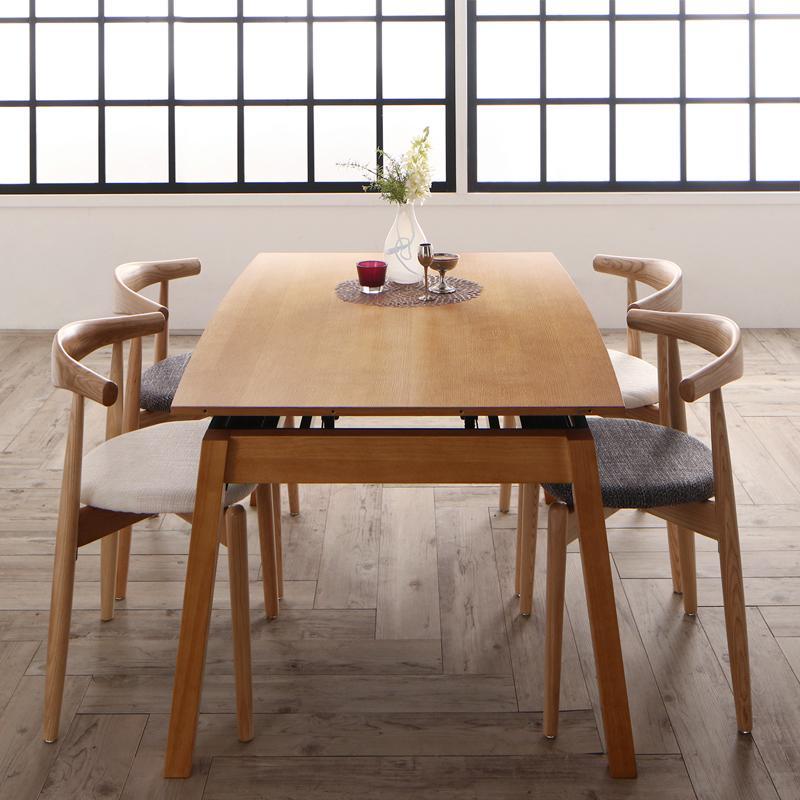 ダイニングテーブルセット [5点セット(テーブル+チェア4脚) オーク材ウォールナット材 北欧伸縮式ダイニングシリーズ Jole ジョール]
