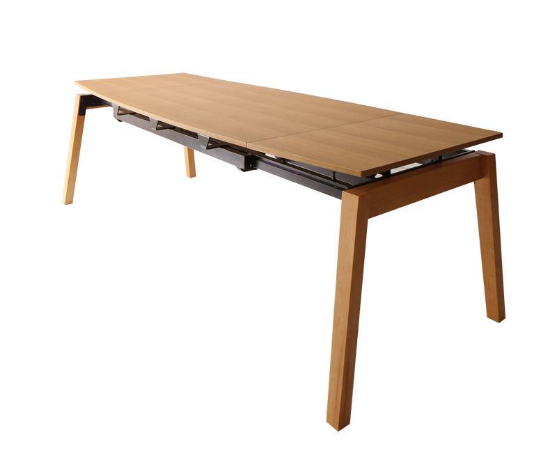 ダイニングテーブル 伸縮 [ダイニングテーブル W140-240単品 オーク材ウォールナット材 北欧伸縮式ダイニングシリーズ Jole ジョール]