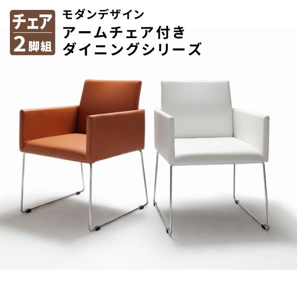 【送料無料】 ダイニングチェア2脚 モダンデザインアームチェア付きダイニング Graniel グラニエル 食卓イス ダイニングチェアー 食卓椅子 2脚セット