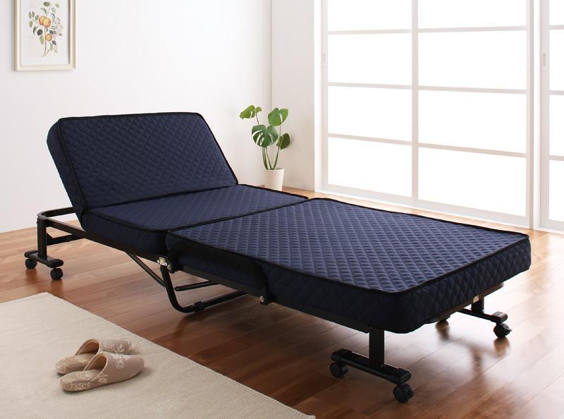 送料無料 折りたたみベッド 完成品 リクライニング 低反発 Belta ベルタ 折りたたみ式ベッド 040100776