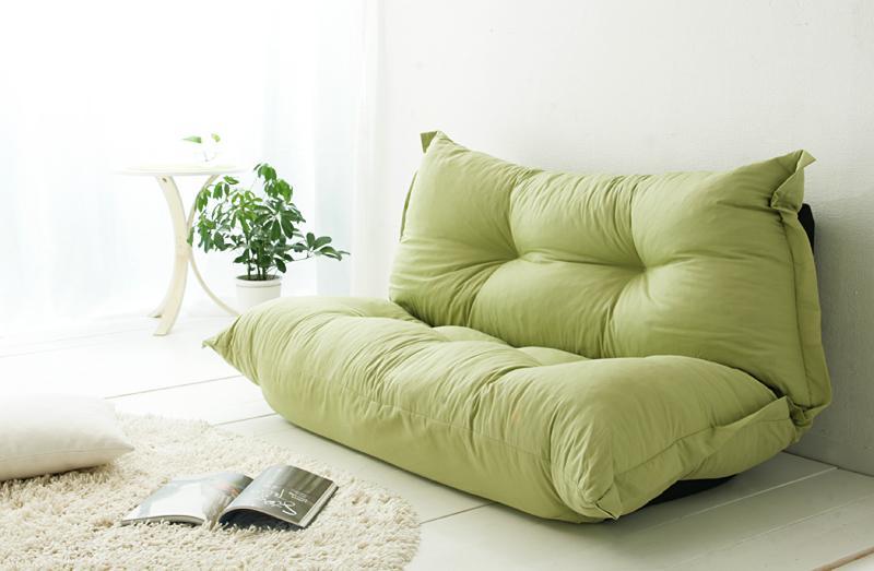 送料無料 もこもこカウチソファ BAUM オックス素材タイプ リクライニングソファー リビングローソファー 一人暮らし 約幅140 ソファーベッドにも フロアソファー 040101022