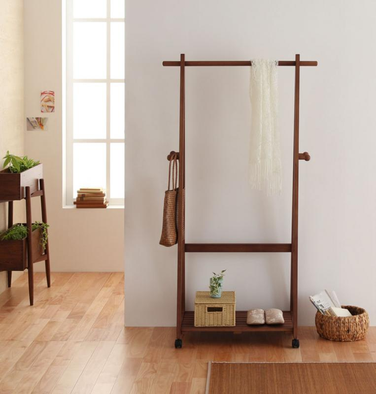 木製コートハンガーシリーズ tidy ティディ 洋服掛け 衣類掛け ポールハンガー 040106008