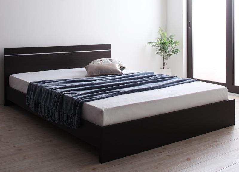 送料無料 セミダブル 連結可能ベッド 日本製 棚なし省スペース Vermogen フェアメーゲン ボンネルコイルマットレス付き ダークブラウン ホワイト セミダブルベッド マット付き 親子ベッド 連結ベッド 040113762